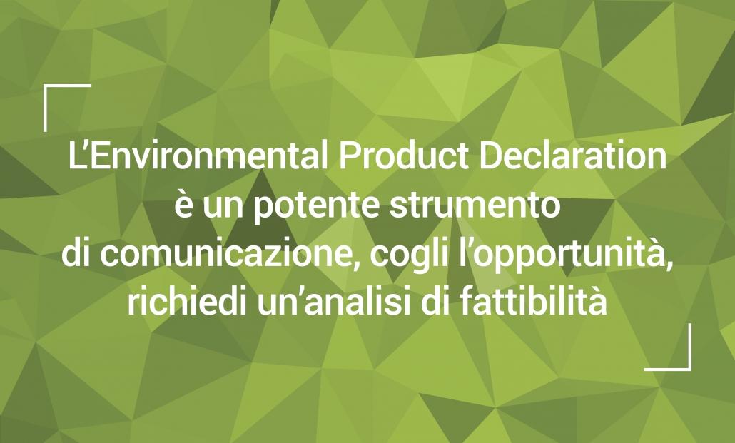 Dichiarazione ambientale di prodotto sostenibilità