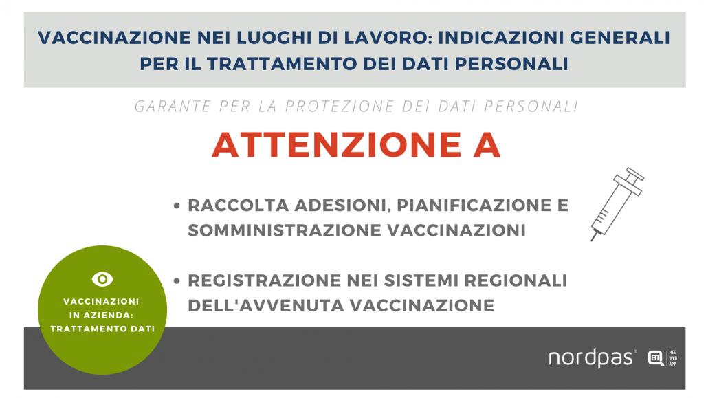 vaccini e dati personali